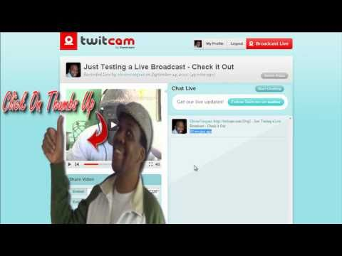 Broadcasting Live On Twitter -  Twitcam For Video Chat Pt 2