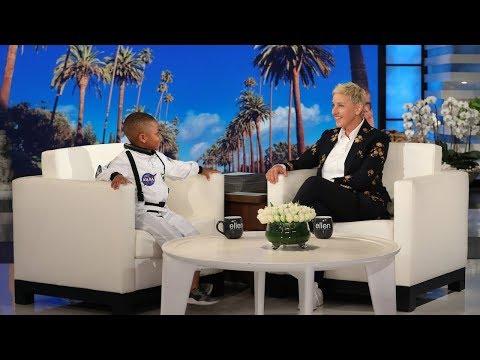 Kid Astronomy Expert Jerry Morrison III Shares His Secret with Ellen