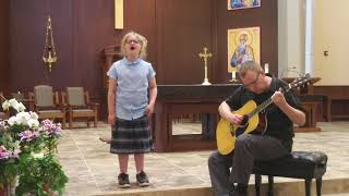 Hallelujah, religious version (7 year old with stunning voice)