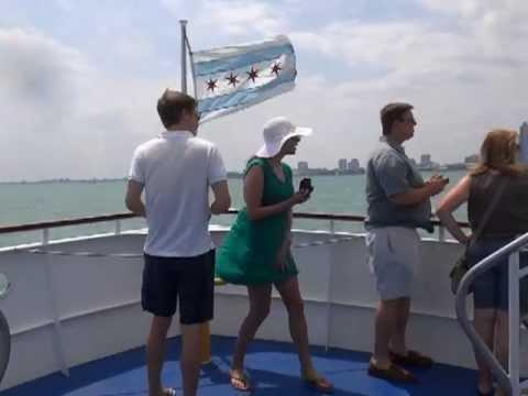 Windy Cruise on Lake Michigan