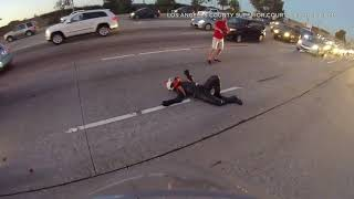 Raw: Motorcyclist hit by car on freeway in OC, awarded $21.5-million verdict by jury I ABC7