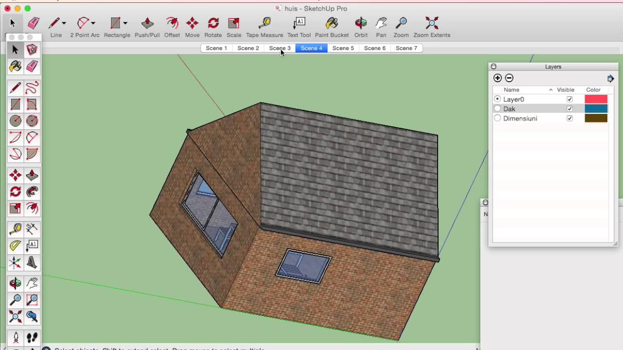SketchUp tutorial 4 - YouTube
