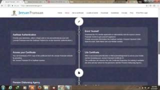 Wie man Jeevan Parman patra ( Lebens-Zertifikat ) online Für die Renten-Zertifikat