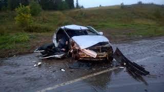 18 09 2017 Последствия ДТП на 161 км автодороги «Елабуга Пермь» Завьяловский ра