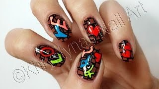 Graffiti Nail Art | Nail Art Tutorial DIY