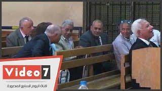 وصول إبراهيم سليمان لحضور جلسة محاكمته بقضية