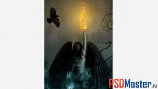 Коллаж в фотошоп - Падший ангел