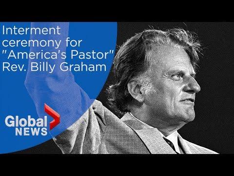 WATCH LIVE: Interment ceremony for evangelist Rev. Billy Graham