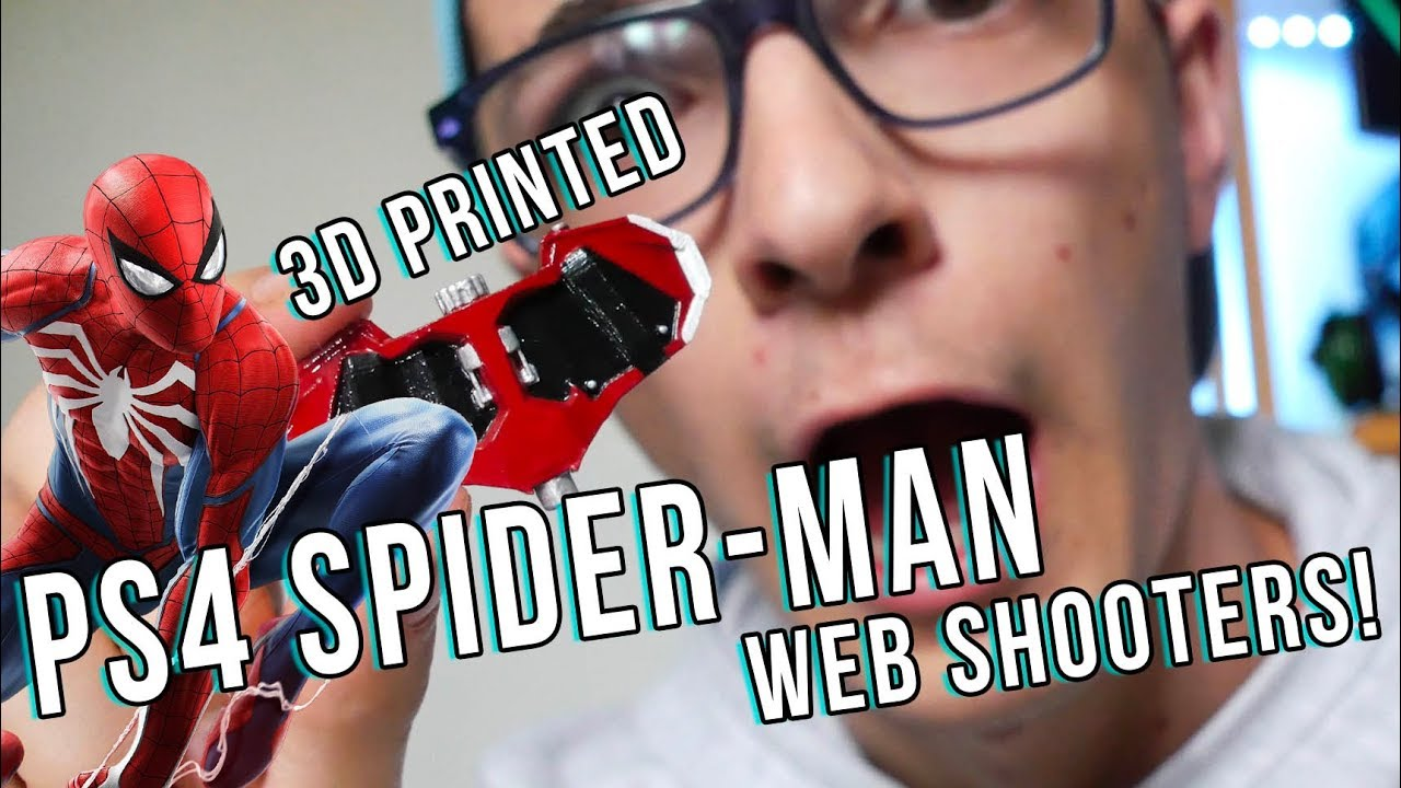 cf0d298f3f0 3D Printed PS4 Spider-Man WEB SHOOTERS! - YouTube