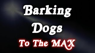 12 HOURS OF BARKING DOGS TO THE MAX SOUND EFFECT