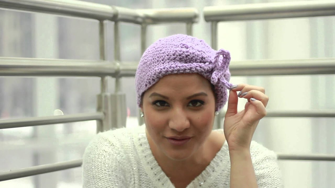 Team Nalie Crochet Hat Hats for Breast cancer Patients - YouTube
