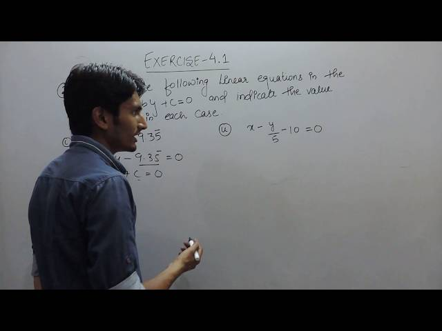 chapter 4 exercise 4.1 Q 2 (i,ii) - Linear Equations in Two Variables class 9 maths ncert solutions