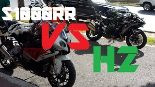 Kawasaki Ninja H2 VS BMW S1000RR 2014 RACE