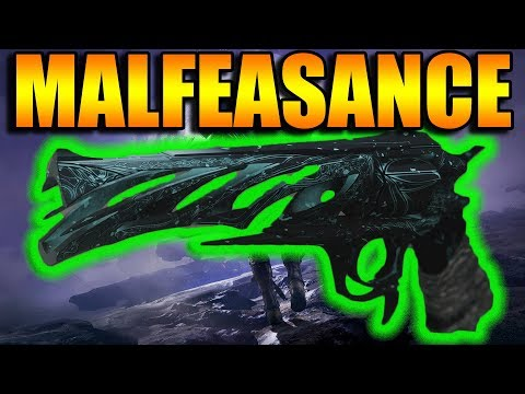 Destiny 2 | Malfeasance Gambit Exotic Hand Cannon PvP Gameplay Review | Black Armory DLC thumbnail