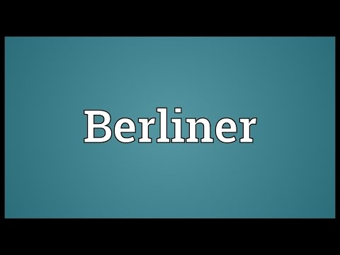 Berliner Meaning