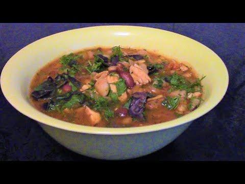Фасолевый суп боб чорба ./Фасоль рецепты ./Суп с фасолью ./Фасолевый суп с курицей .