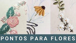 Como Bordar uma Flor – Modo Pratico e Rápido