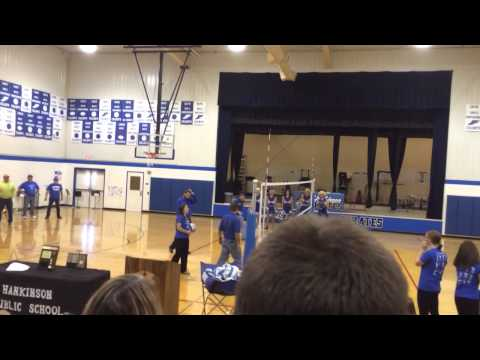 Hankinson High School Girls Volleyball Pep Rally 11-19-2014