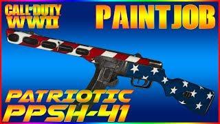 COD WW2 Paintjob Tutorial - Patriotic US (PPSH-41) EASY