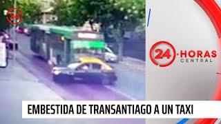 Embestida de transantiago a un taxi: Conductores tienen antecedentes policiales