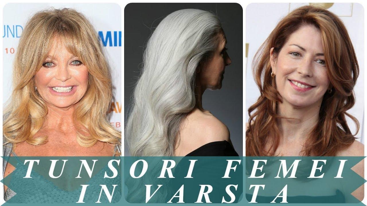 Modele De Tunsori Femei In Varsta Par Lung Youtube