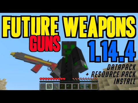 how-to-add-guns-in-minecraft-1.14.4---download-&-install-future-weapons-(vanilla-gun-mod)-1.14.4