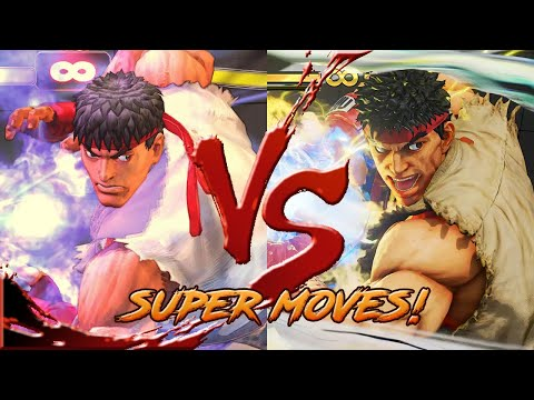 SFIV Vs SFV:AE - SUPER / ULTRA Moves Comparison!