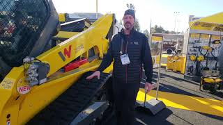 Video still for Wacker Neuson ST45 Compact Track Loader at World of Concrete 2019
