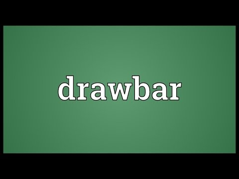 Drawbar Meaning