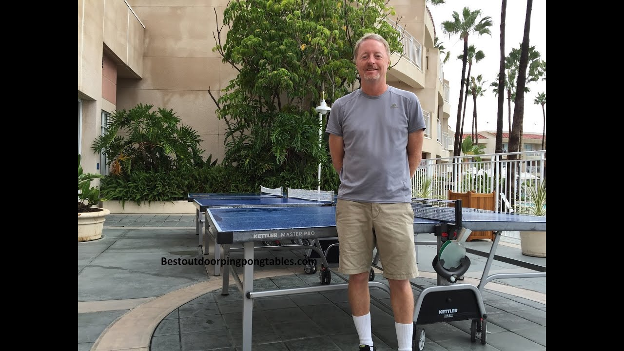 Kettler Master Pro Outdoor Ping Pong Table Review   YouTube