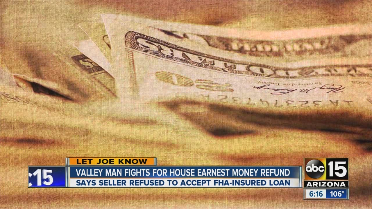 earnest money refund from hud