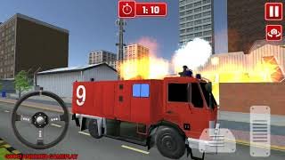 Fire Engine Truck Simulator 2018 - Modern Firetruck Unlocked Android Gameplay FHD