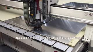 Cutting 1050 Grade Aluminium for Cladding & Facades