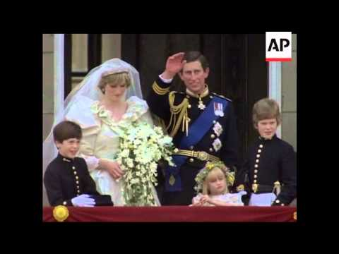 THE ROYAL WEDDING - PRINCE CHARLES AND LADY DIANA SPENCER - NO SOUND