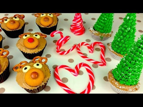 Christmas Cupcakes And Candy Cane Fun
