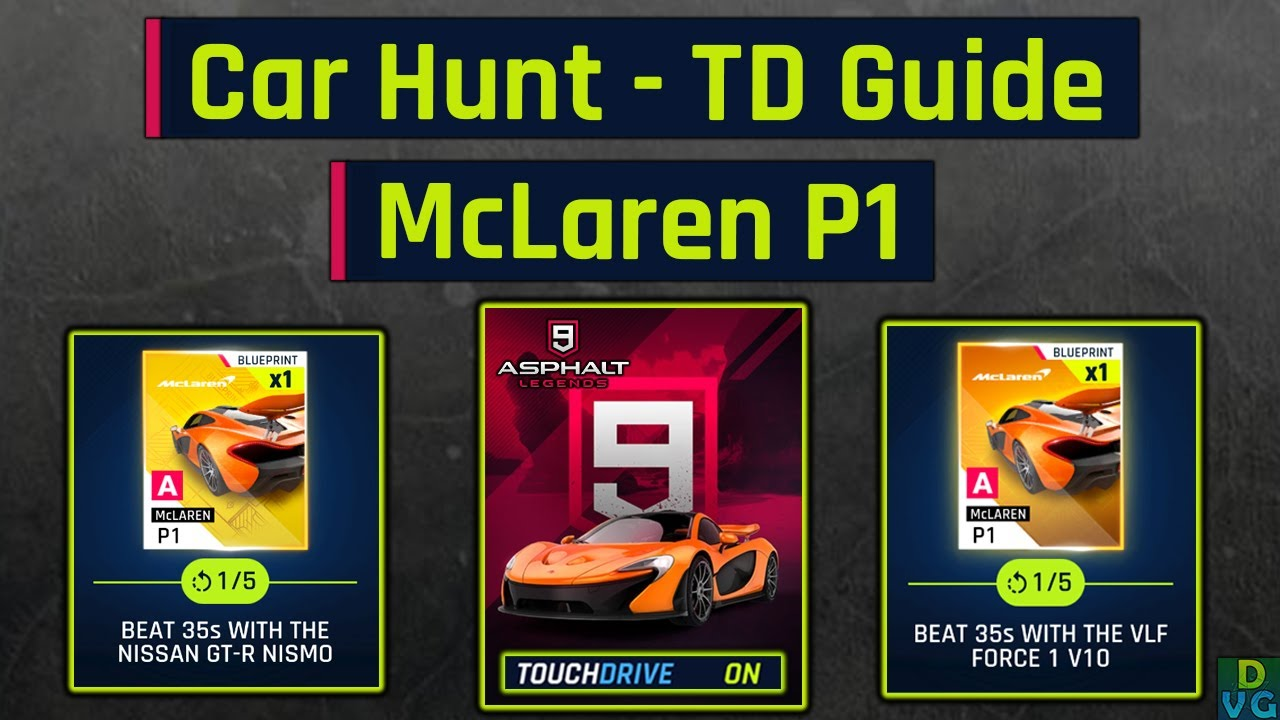 Asphalt 9 | McLaren P1 -  Car Hunt | Touchdrive Guide