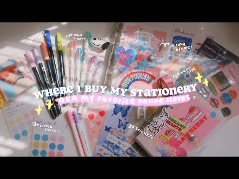 MY FAVORITE ONLINE STATIONERY STORES 💙where I Buy My Stationery