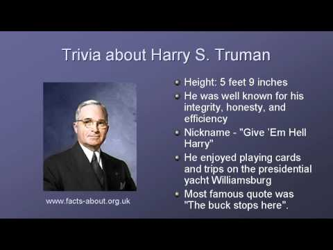 an analysis of harry s trumans policies as a president of the united states