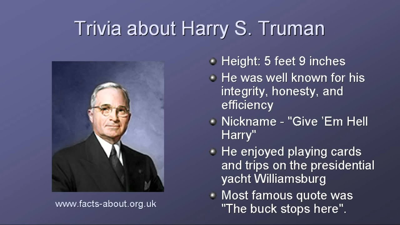 a biography of harry truman Find out more about the history of harry truman, including videos, interesting articles, pictures, historical features and more get all the facts on historycom.