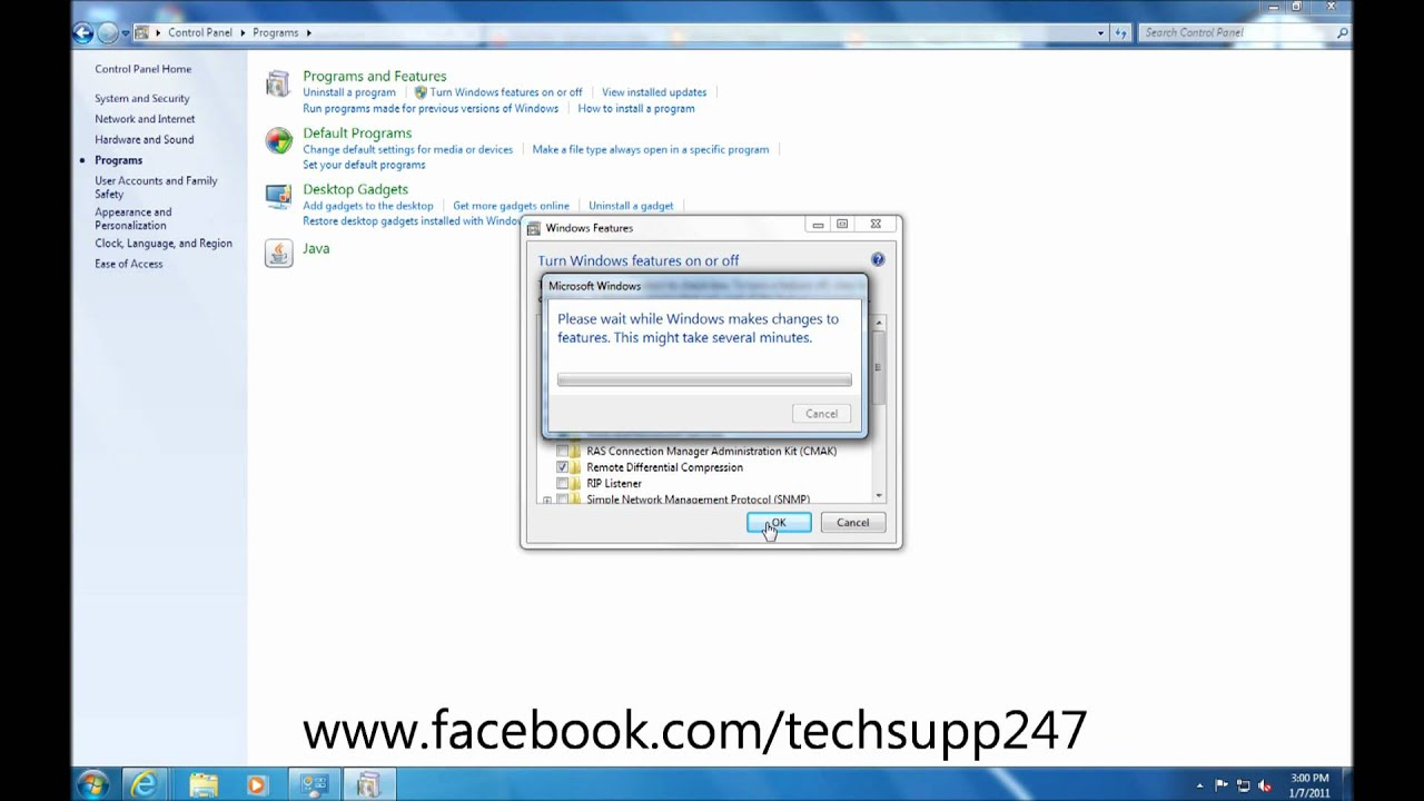 How to Turn Windows 7 Features On or Off