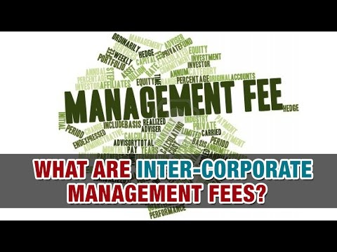 What are inter-corporate management fees?