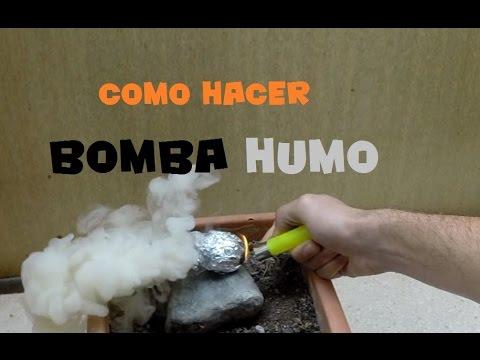 Como hacer bomba de humo casera - Experimentos faciles con bombas de humo