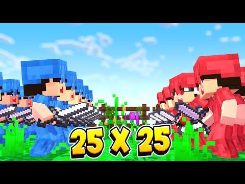 25 VS 25 БИТВА КОРОЛЯ И СЫНА! СЫН ПРЕДАЛ ОТЦА И РЕШИЛ ЗАХВАТИТЬ ЕГО ЗЕМЛИ! Minecraft
