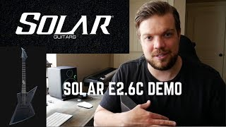 Solar Guitars E2.6C Review || Amazing Value for Musicians on a Budget