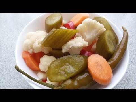 Torshi Shoor (Pickled Vegetable) Recipe - ترشی شور مخلوط