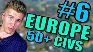 Civilization 5 Gameplay [Civ 5] Brave New World   Europe AI ONLY 50+ Civs Mods   Part 6