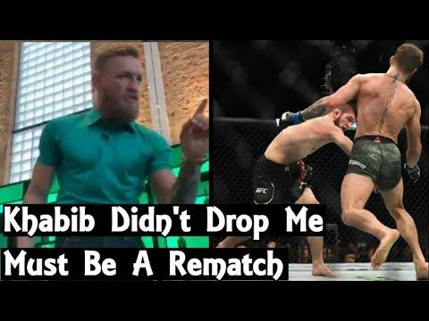 aaf8f79c0ac Conor McGregor Denies Being Dropped By Khabib