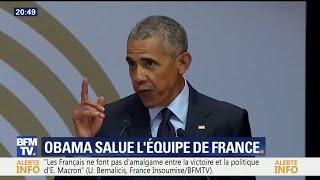 Obama salue la diversité de l'Équipe de France lors d'un hommage à Nelson Mandela