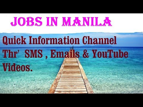 Jobs in MANILA   for freshers & graduates. industries, companies.  PHILIPPINES