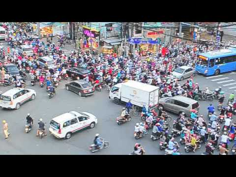 Rush Hour Traffic with motorcycle